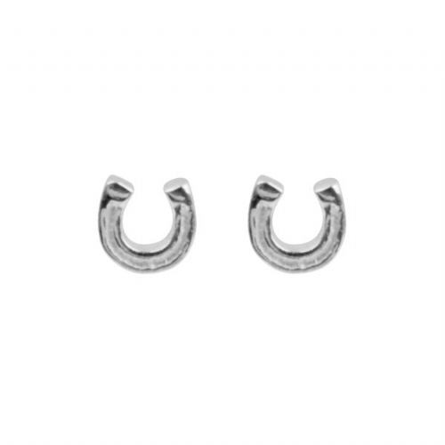 Silver Horse Shoe Studs